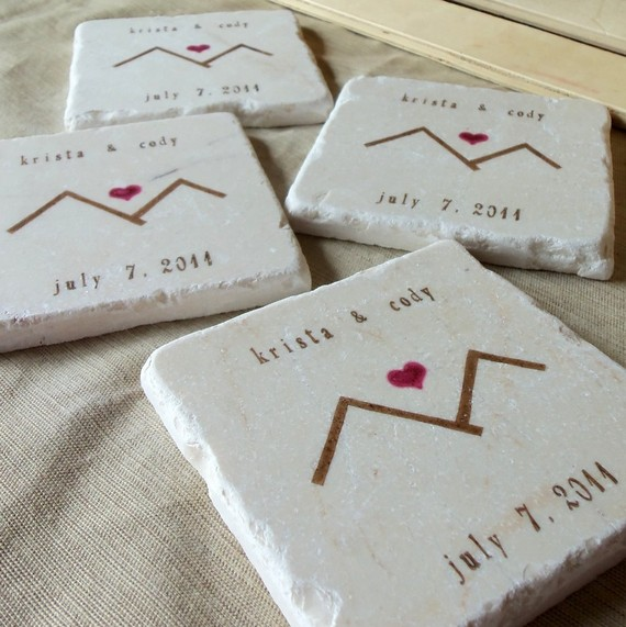 rustic mountain coaster favors