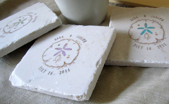 sand dollar coaster favors