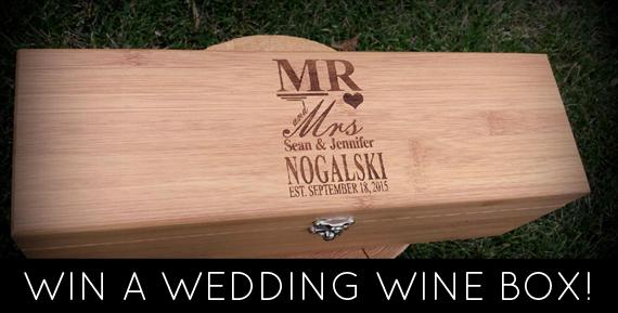 Wedding Wine Box Giveaway https://emmalinebride.com/2016-giveaway/wedding-wine-box