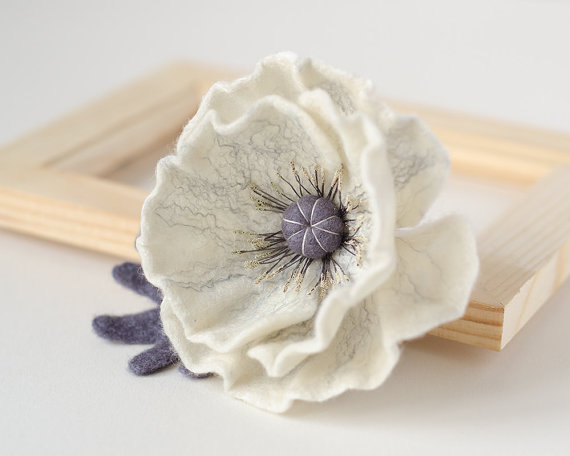 white flower brooch | unique gifts for mom