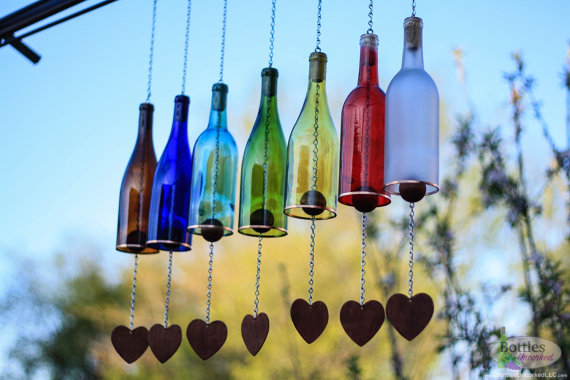 wine bottle chime by bottlesuncorked | unique gifts for mom