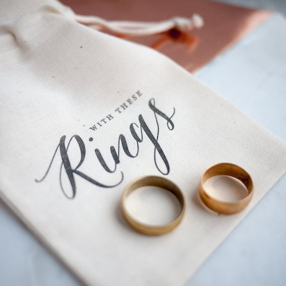 with these rings ring bearer bag by PRINTforLOVEofWOOD | 41 Beautiful Rustic Ring Pillows on Etsy | https://emmalinebride.com/rustic/ring-pillows-etsy-weddings/