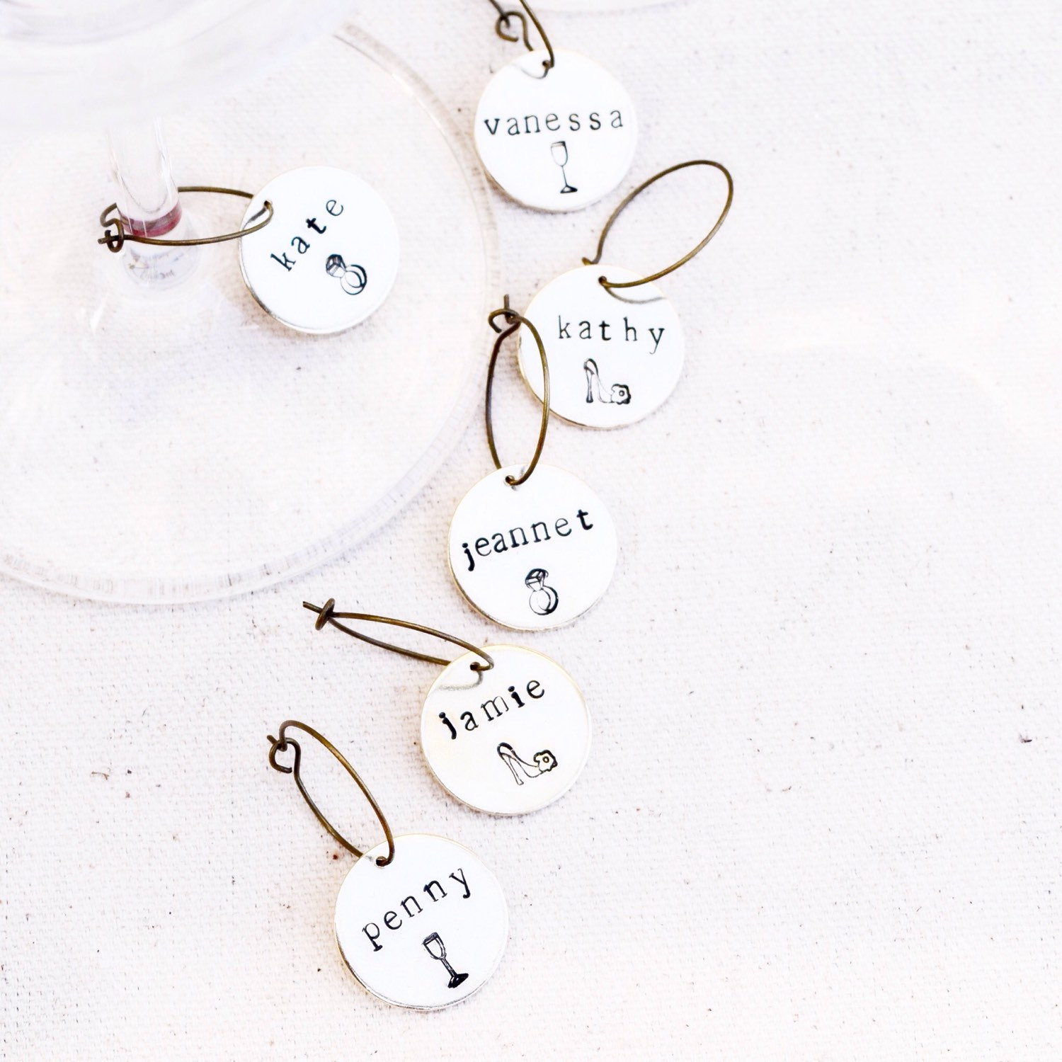 bachelorette wine charm favors | wine charms favors https://emmalinebride.com/favors/wine-charms-favors