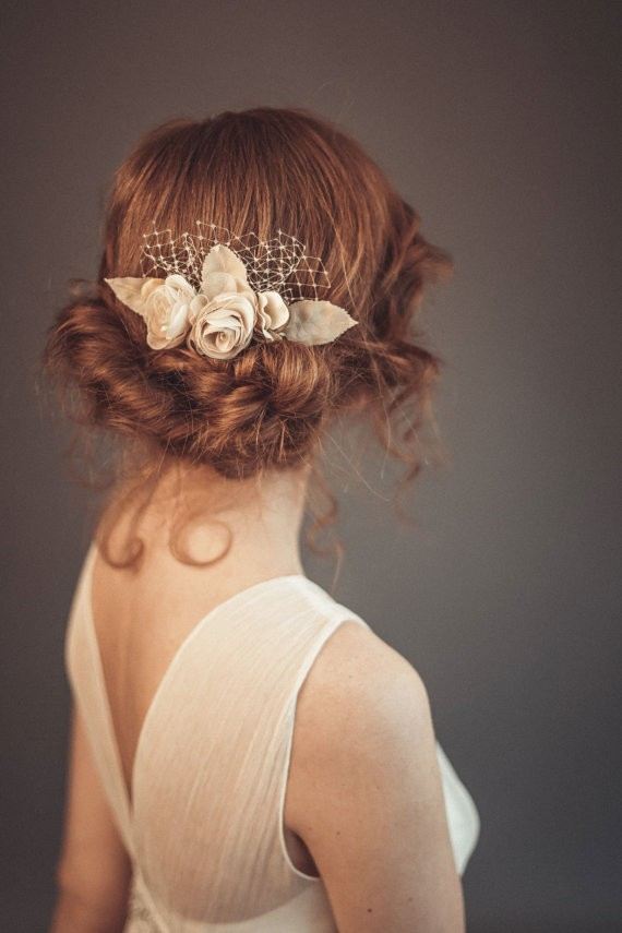 bun | 50+ Best Bridal Hairstyles Without Veil | http://emmalinebride.com/bride/best-bridal-hairstyles