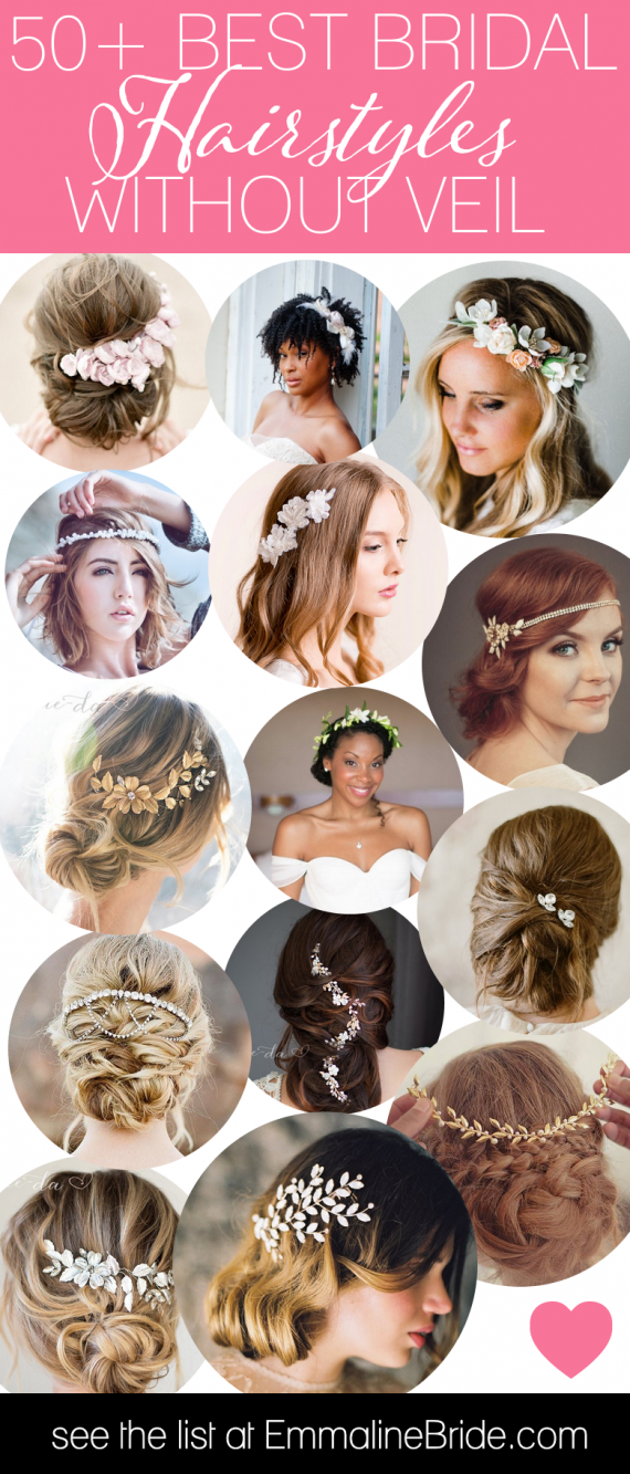 Best Bridal Hairstyles Without Veil | http://emmalinebride.com/bride/best-bridal-hairstyles/