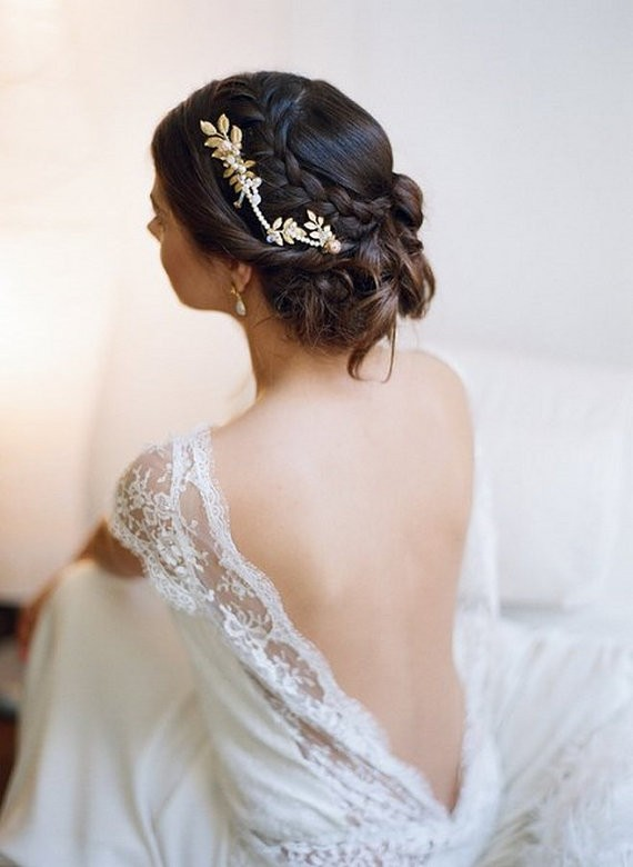 braid and bridal updo | 50+ Best Bridal Hairstyles Without Veil | http://emmalinebride.com/bride/best-bridal-hairstyles