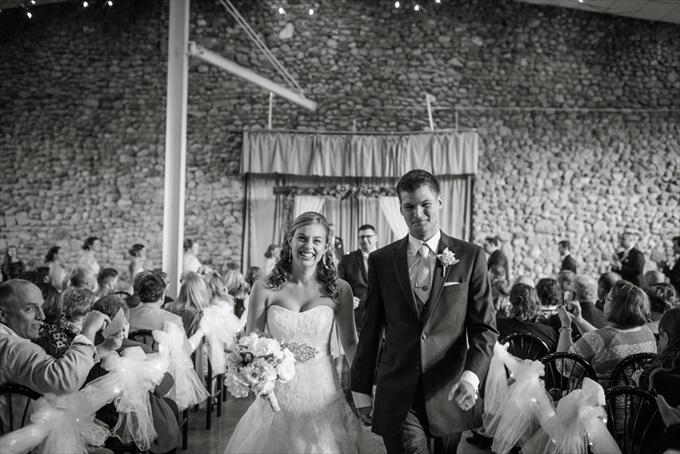 bride_groom_married_walk_up_aisle_michigan_wedding_lawton