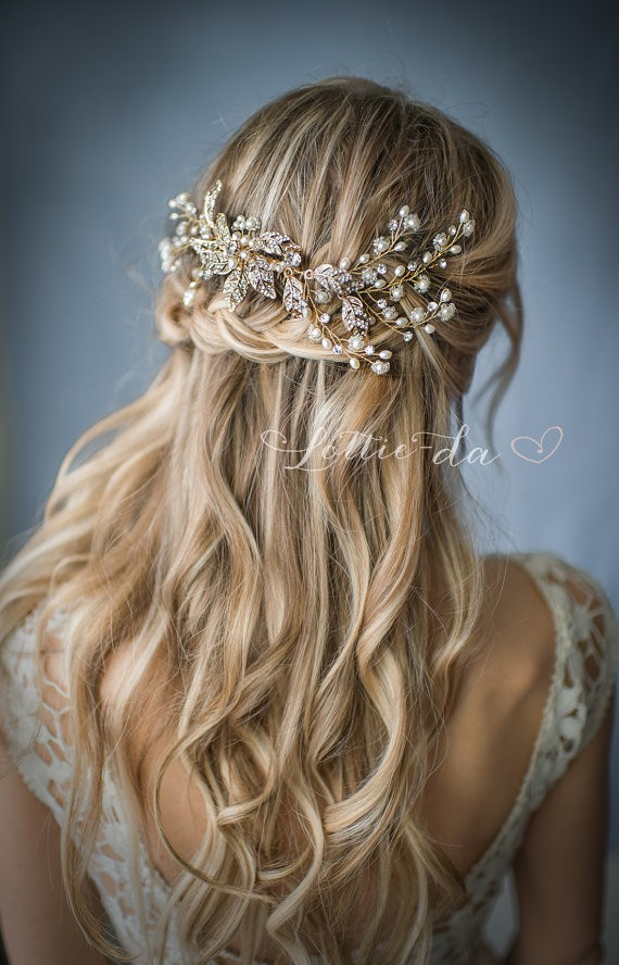cascading braid hairstyle | 50+ Best Bridal Hairstyles Without Veil | http://emmalinebride.com/bride/best-bridal-hairstyles
