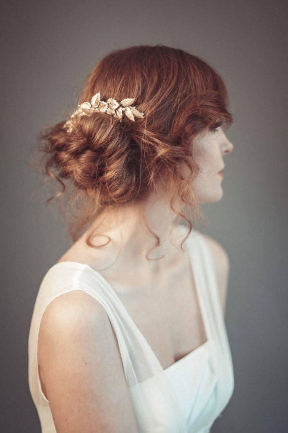chignon | 50+ Best Bridal Hairstyles Without Veil | http://emmalinebride.com/bride/best-bridal-hairstyles