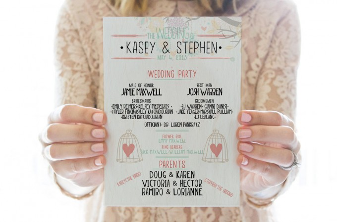 cute printable wedding program by redlettervows