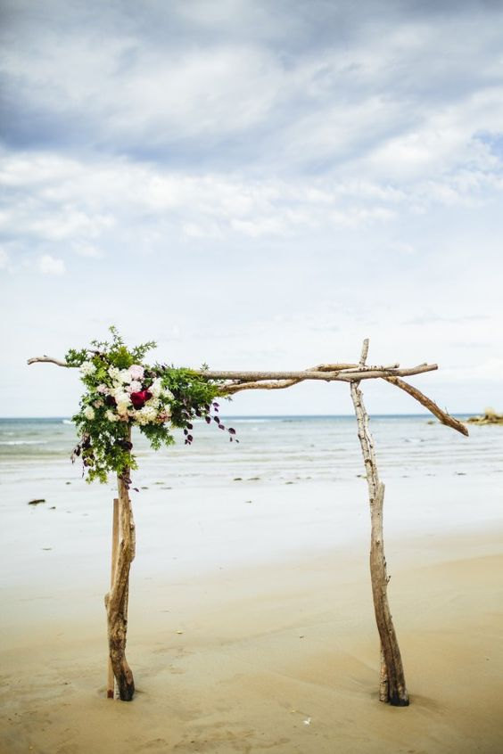 driftwood beach arch kit by saltygirlandlongdog | Where to Buy Wedding Arches | http://emmalinebride.com/ceremony/arches-weddings/