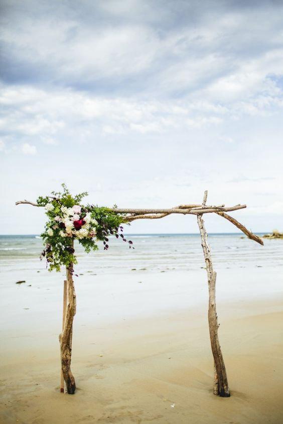 driftwood beach arch kit by saltygirlandlongdog | Where to Buy Wedding Arches | https://emmalinebride.com/ceremony/arches-weddings/