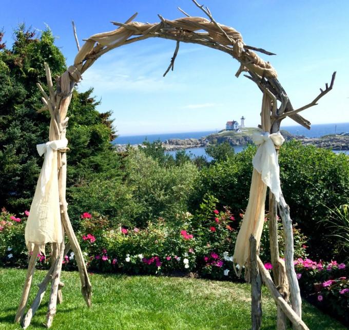 driftwood ceremony arch by saltygirlandlongdog | Where to Buy Wedding Arches | https://emmalinebride.com/ceremony/arches-weddings/