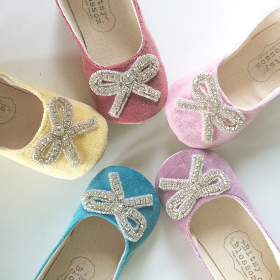 flower girl shoes with bow