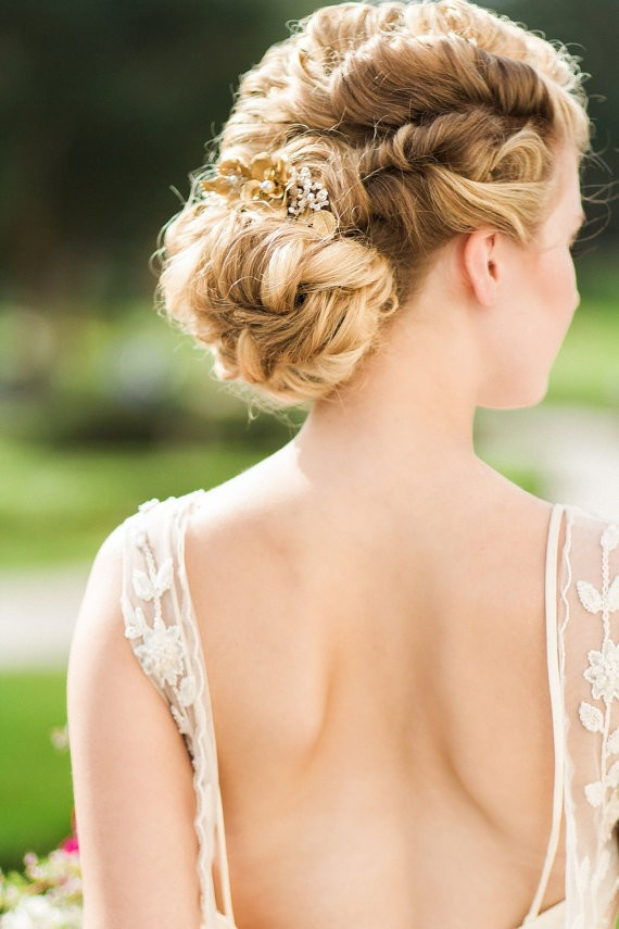 hair rolled updo | 50+ Best Bridal Hairstyles Without Veil | http://emmalinebride.com/bride/best-bridal-hairstyles