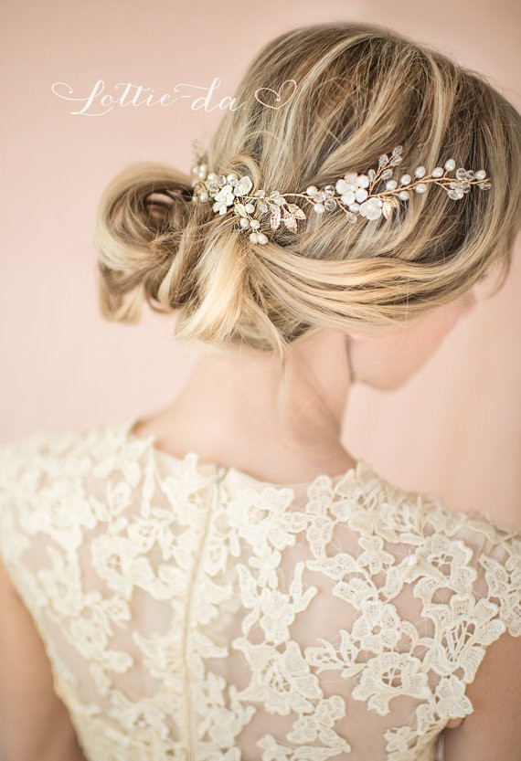 hair wreath | 50+ Best Bridal Hairstyles Without Veil | http://emmalinebride.com/bride/best-bridal-hairstyles