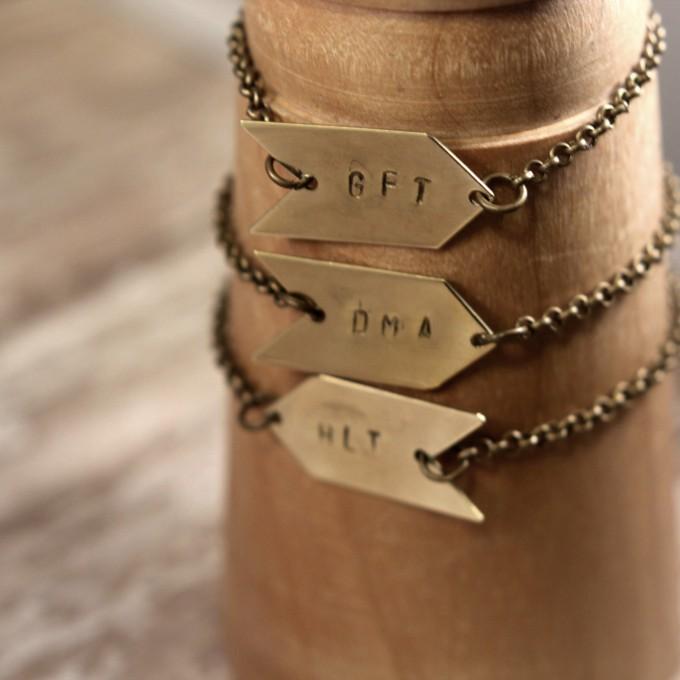 initial arrow bracelet