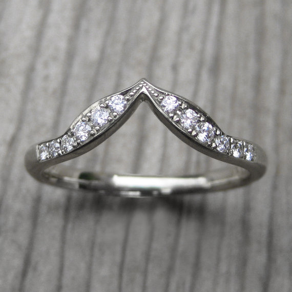 leafy pave diamond band | rustic wedding rings by Kristin Coffin Jewelry https://emmalinebride.com/rustic/wedding-rings/