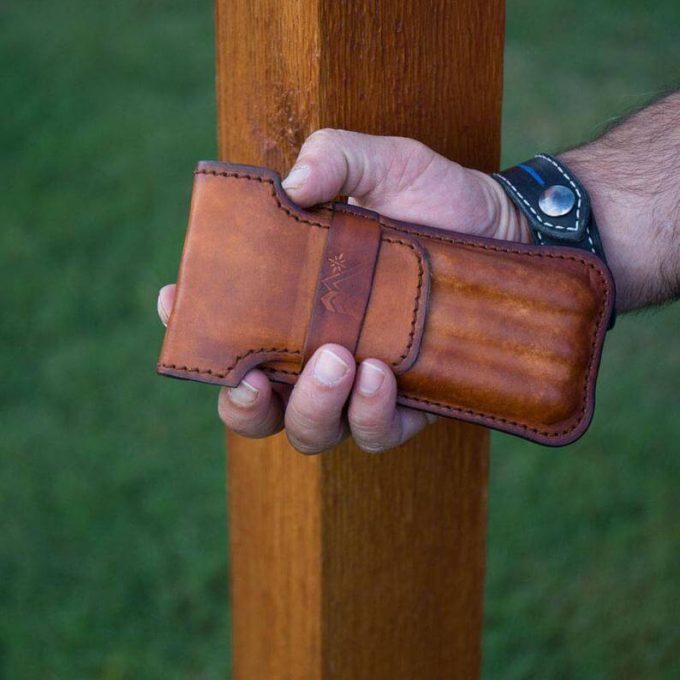 leather cigar case by heartland leather work