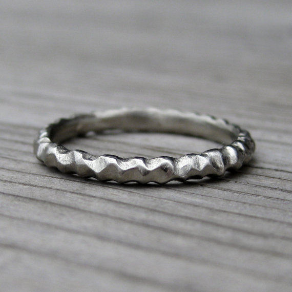 mountain wedding ring | rustic wedding rings by Kristin Coffin Jewelry https://emmalinebride.com/rustic/wedding-rings/