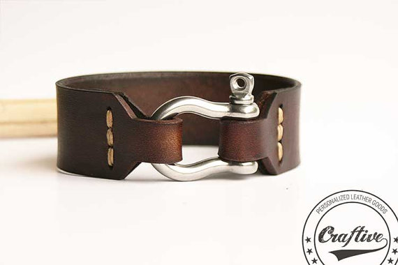 nautical leather bracelet