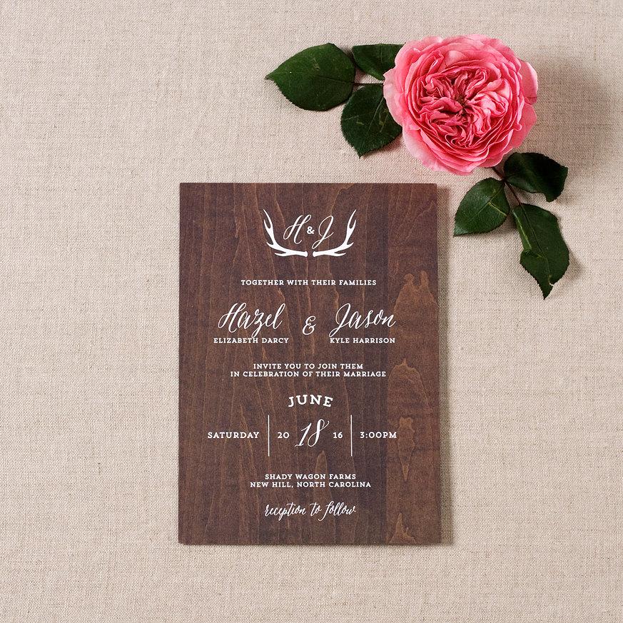 rustic barn wedding invitations