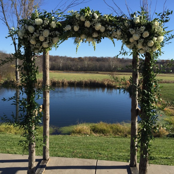 rustic wedding arch by CodyRossWoodworking | Where to Buy Wedding Arches | http://emmalinebride.com/ceremony/arches-weddings/