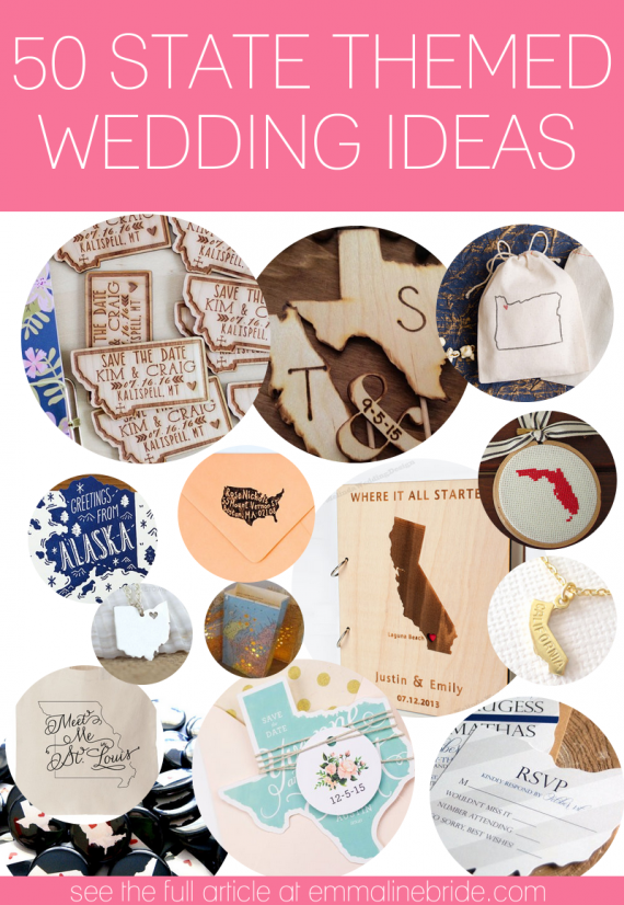 state themed wedding ideas