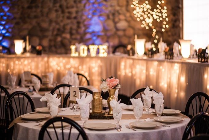 wedding_reception_table_decor_gold_mason_jars