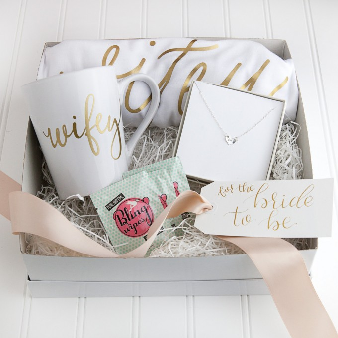 wifey gift set | via 15 Best Gifts for the Bride from Groom + Wedding Gifts for Bride from Groom