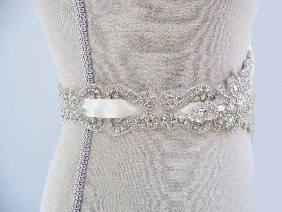 Should I Wear a Sash? - Emmaline Bride | photo via SparkleSM Bridal | http://emmalinebride.com/bride/should-i-wear-a-sash/