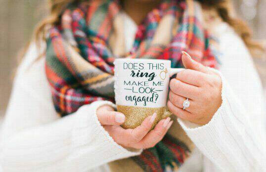 does this ring make me look engaged mug by PrettyMePinkBoutique