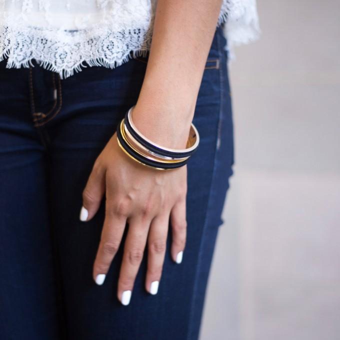 hair tie bracelets from belabracelets | https://emmalinebride.com/gifts/hair-tie-bracelets/