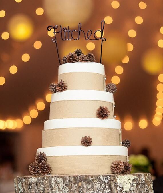 hitched wire cake toppers