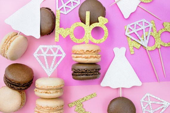 i do cupcake topper set by paperlypress | via 21 Totally Fun Ring Themed Bridal Shower Ideas → https://emmalinebride.com/planning/ring-themed-bridal-shower/