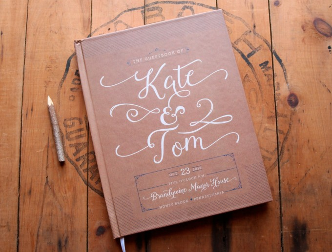 kraft wedding guest book via free guestbook giveaway https://emmalinebride.com/2016-giveaway/free-guestbook/