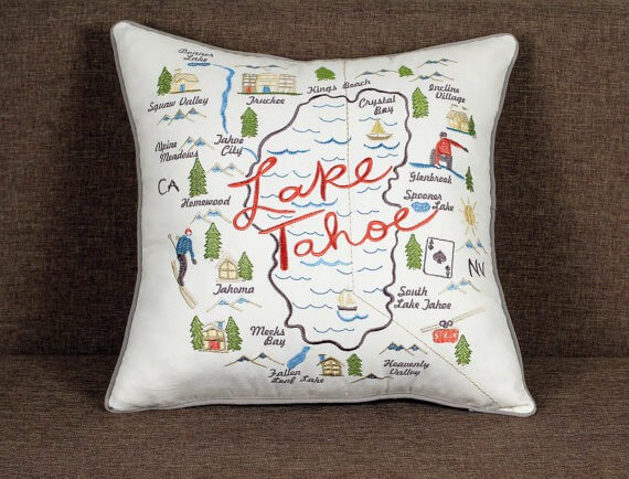 lake tahoe pillow by jawdecor
