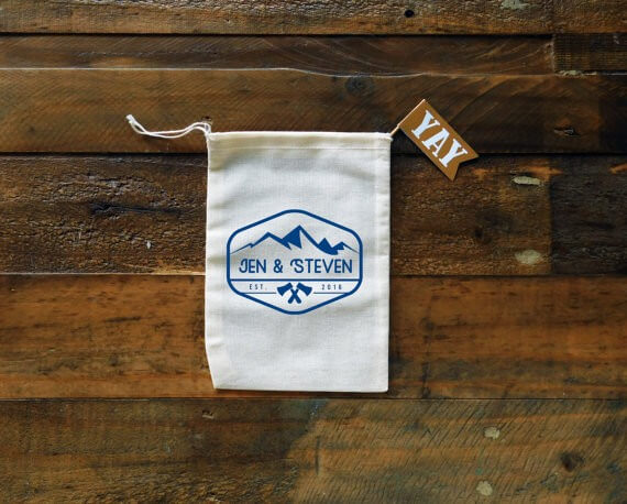 lake tahoe wedding favor bags
