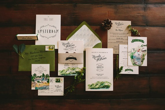 lake tahoe wedding invitations by wideeyespaperco - all