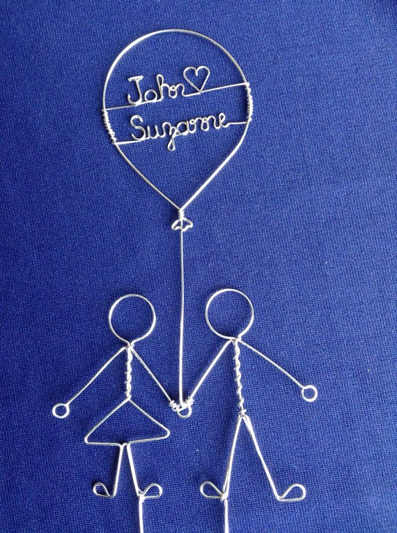 love balloon wire cake toppers