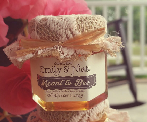 meant to bee honey jar favors for weddings