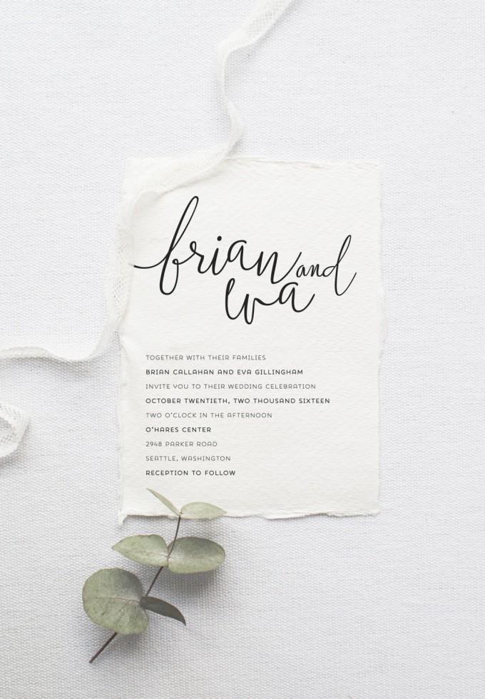 minimalist wedding invitations | by Splash of Silver | http://emmalinebride.com/modern/minimalist-wedding-invitations/