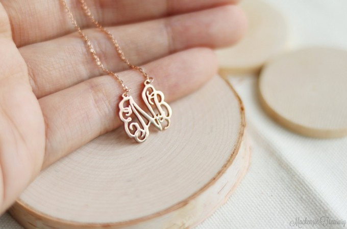 monogram necklace | via 15 Best Gifts for the Bride from Groom + Wedding Gifts for Bride from Groom