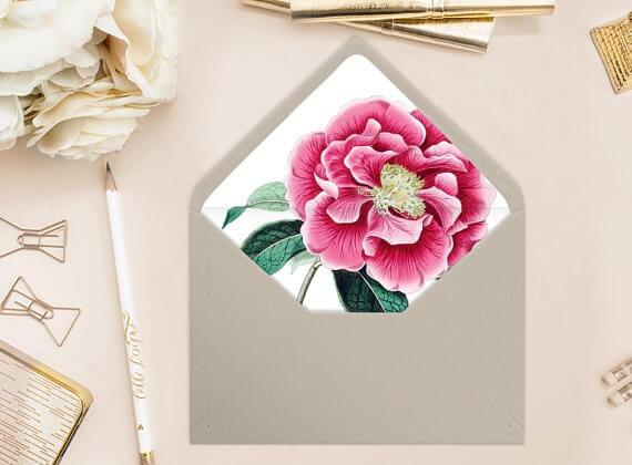 pink peony diy envelope liners