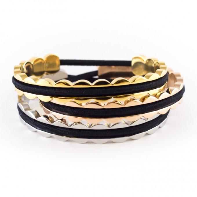 scalloped hair tie bracelets | https://emmalinebride.com/gifts/hair-tie-bracelets/