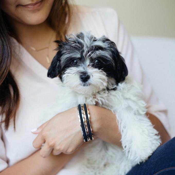 scalloped hair tie bracelets set | https://emmalinebride.com/gifts/hair-tie-bracelets/
