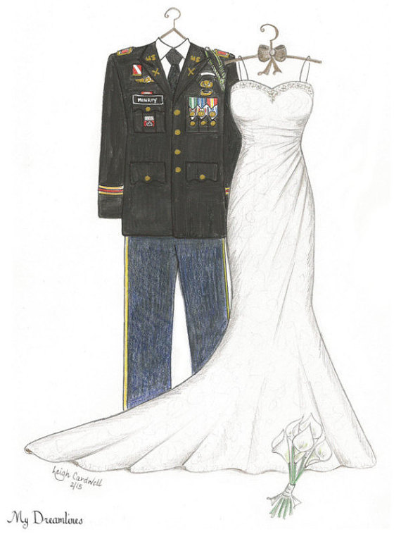 wedding sketch artwork