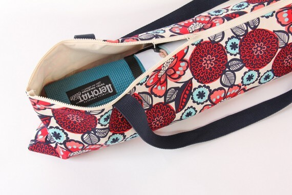 yoga mat bag by goodmarvin | bridesmaid yoga pants, gifts & more | https://emmalinebride.com/gifts/bridesmaid-yoga-pants-gifts/