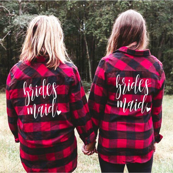 flannel bridesmaid shirts
