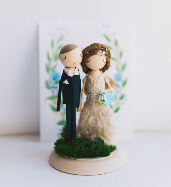 couple cake topper etsy